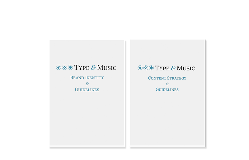 Type and Music document covers