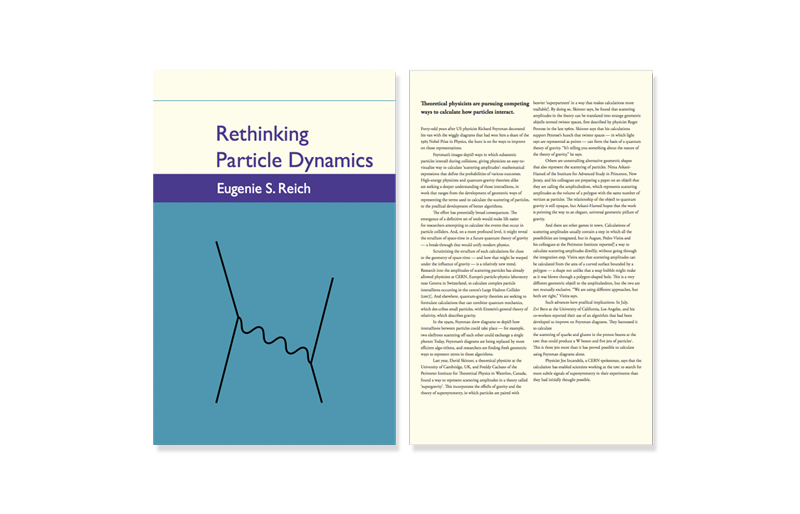 Sample image showcasing Cover and inside page of Rethinking Particle Dynamics